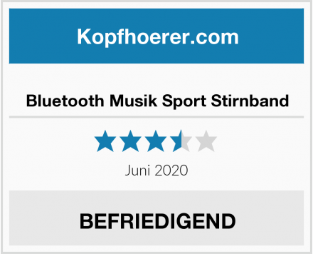 Bluetooth Musik Sport Stirnband Test