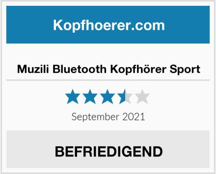 Muzili Bluetooth Kopfhörer Sport Test