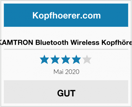 KAMTRON Bluetooth Wireless Kopfhörer Test