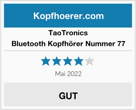 TaoTronics Bluetooth Kopfhörer Nummer 77 Test
