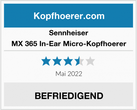Sennheiser MX 365 In-Ear Micro-Kopfhoerer Test