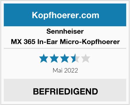 Sennheiser MX 365 In-Ear Micro-Kopfhoerer Test