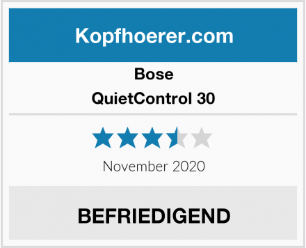 Bose QuietControl 30 Test