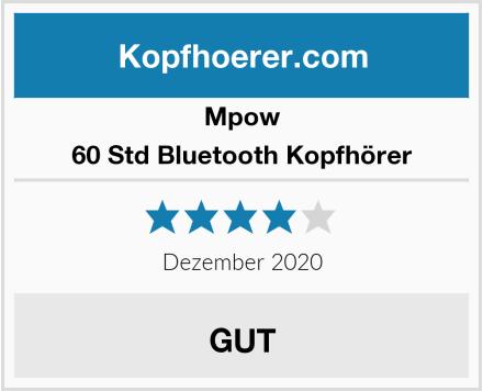 Mpow 60 Std Bluetooth Kopfhörer Test