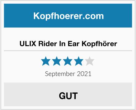 ULIX Rider In Ear Kopfhörer Test