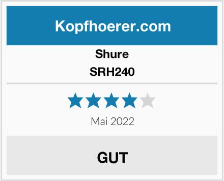 Shure SRH240 Test