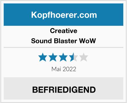 Creative Sound Blaster WoW Test