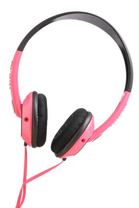 Pinke Kopfhörer
