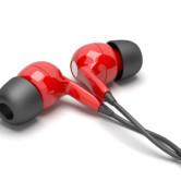 rote In-Ear Kopfhörer